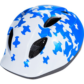 MET Superbuddy Casque Enfant, white/blue airplanes